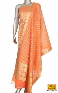 Zari & Orange Chanderi Suit